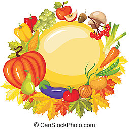 vector illustration of a harvest card