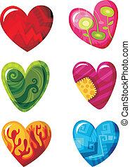heart set - vector illustration of a heart set