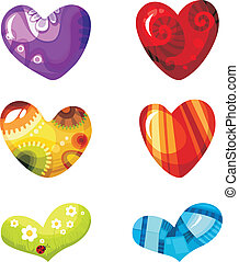 heart set - vector illustration of a heart set