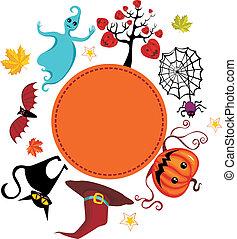 helloween card - vector illustration of a helloween card