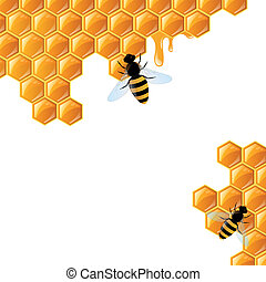 Honey Background - Vector Illustration of a Honey Background