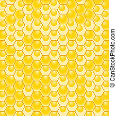 honeycomb pattern - vector illustration of a honeycomb ...