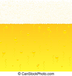horizontally seamless bubbling beer background