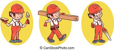 vector illustration of a Industrial Construction Worker