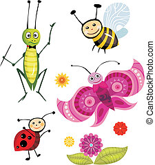 insect set - vector illustration of a insect set
