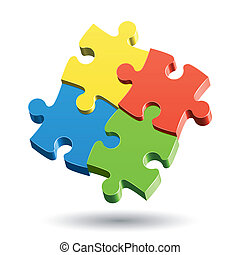 Jigsaw Puzzle - Vector illustration of a Jigsaw Puzzle