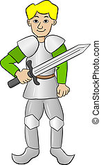 knight with sword and armor