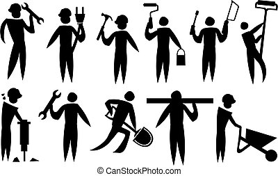 Vector illustration of a labourers.