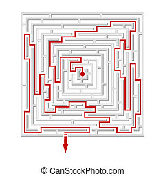 Vector illustration of a  labyrinth/maze