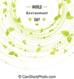 Vector illustration of a leaf for World Environment Day