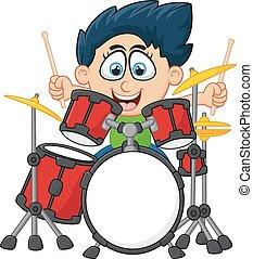 illustration of a little boy - vector illustration of a ...