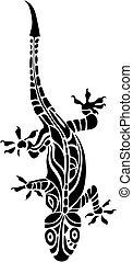 lizard - vector illustration of a lizard