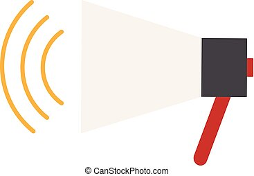 Vector illustration of a loudspeaker in a flat style.