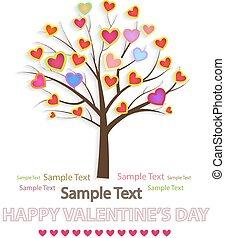 Vector illustration of a love tree.