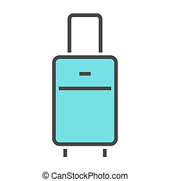 Vector illustration of a luggage.