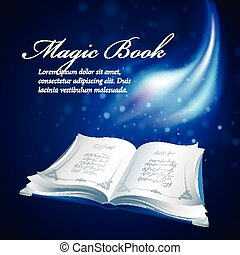 Vector illustration of a magical book