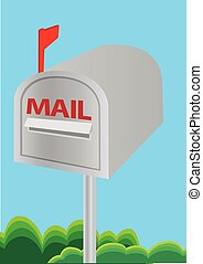 Vector illustration of a mailbox