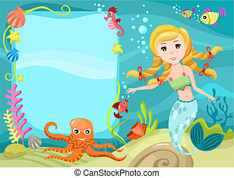 mermaid - vector illustration of a mermaid