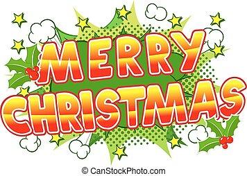 Merry Christmas comic speech bubble