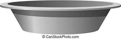 Vector illustration of a metal basin