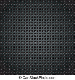 Vector illustration of a metallic background with holes