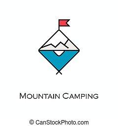 Mountain Camping Icon