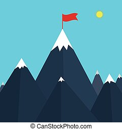 Vector illustration of a mountain
