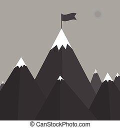 Vector illustration of a mountain