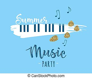 Vector illustration of a music design element. Summer music party.