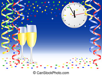 new year party background - vector illustration of a new ...