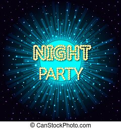 Vector illustration of a night party on abstract background