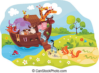 Noah\'s Ark - vector illustration of a Noah\'s Ark