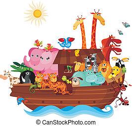 Noah's Ark - vector illustration of a Noah's Ark