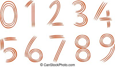 vector illustration of a number icon