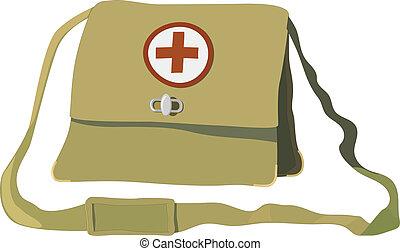 Vector illustration of a nurse bag