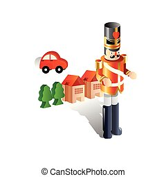 Vector illustration of a nutcracker