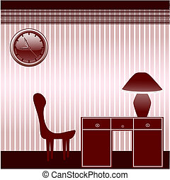 office room with furniture - vector illustration of a office...