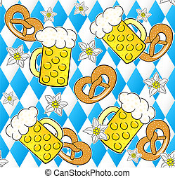oktoberfest seamless pattern background