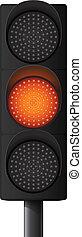 Orange/Yellow traffic light