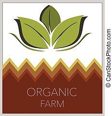 vector illustration of a organic farm