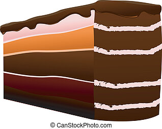 Vector illustration of a piece of cake