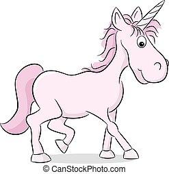 pink cartoon unicorn