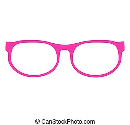 vector illustration of a pink glasses isolated on white background