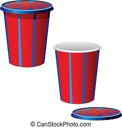 Vector illustration of a plastic cups
