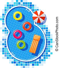 Vector illustration of a pool.