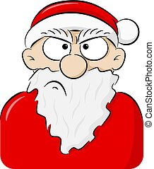 portrait of an angry Santa Claus
