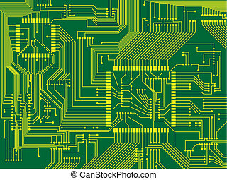 printed circuit board - Vector illustration of a printed ...