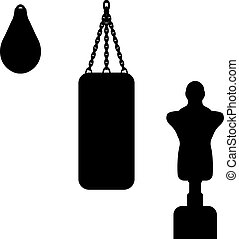 Vector illustration of a punching bag