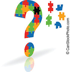 vector illustration of a question mark puzzle