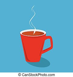 Vector Illustration of a red cup of coffee